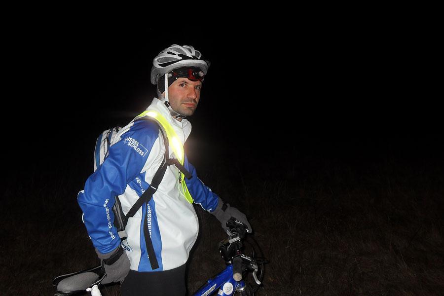 bicicletă, noapte, îngheț